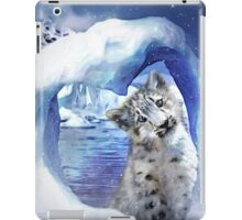Snow Leopard - Heart Warmer iPad Case/Skin