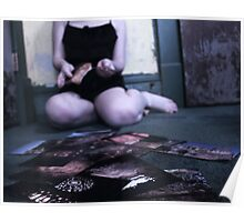 Girl in Dress Ripping Photographs Poster