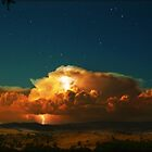 Fire in the clouds, Ovens Valley by Kevin McGennan