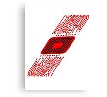 microchip disk pattern design cool Canvas Print