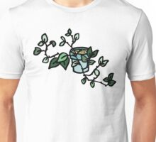 Domestic plant in a pot. Unisex T-Shirt