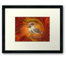 Gulls Caught In Art Life Framed Print