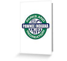 Pawnee Parks and Rec LOGO Greeting Card