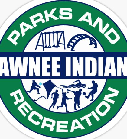 Pawnee Parks and Rec LOGO Sticker