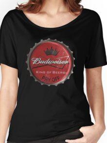 BUDWEISER BOTTLE CAP Women's Relaxed Fit T-Shirt