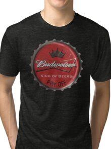 BUDWEISER BOTTLE CAP Tri-blend T-Shirt