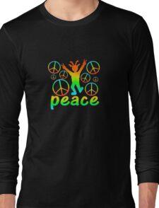 Rainbow Peace Dude  Long Sleeve T-Shirt