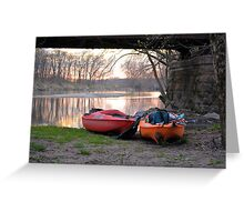 Kayak Boats Greeting Card