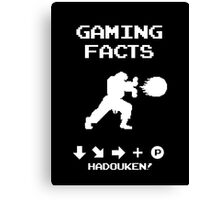 Gaming Facts Hadouken Canvas Print