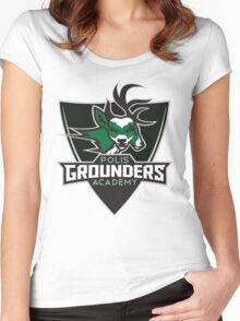 Polis Academy Grounders Shield Women's Fitted Scoop T-Shirt