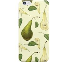 Watercolor pattern with pears Conference.  iPhone Case/Skin