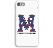 American Flag UMD M Logo iPhone Case/Skin