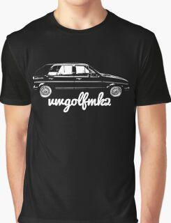 VW Golf Mk2 Appreciation Graphic T-Shirt