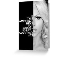 Courtney Act Text Portrait Greeting Card