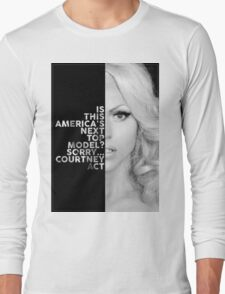 Courtney Act Text Portrait Long Sleeve T-Shirt