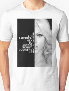 Courtney Act Text Portrait Unisex T-Shirt
