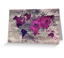 world map watercolor 7 Greeting Card