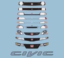 Honda Civic (Black) One Piece - Short Sleeve