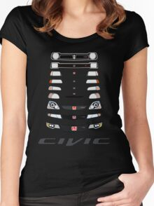 Honda Civic (Black) Women's Fitted Scoop T-Shirt