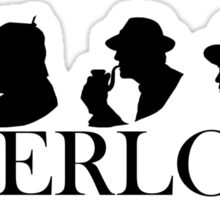 Sherlock Holmes through the years (Silhouettes) Sticker