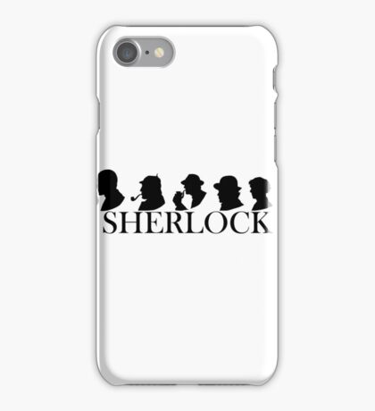 Sherlock Holmes through the years (Silhouettes) iPhone Case/Skin