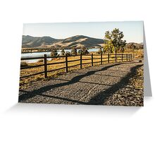 Red Hawk Park Morning Greeting Card