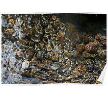 Light Through Water Over Rocks Poster