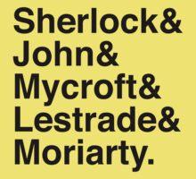 Sherlock & John & Mycroft & Lestrade & Moriarty. (Sherlock) Baby Tee