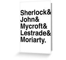 Sherlock & John & Mycroft & Lestrade & Moriarty. (Sherlock) Greeting Card