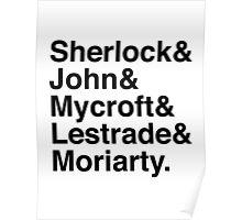 Sherlock & John & Mycroft & Lestrade & Moriarty. (Sherlock) Poster