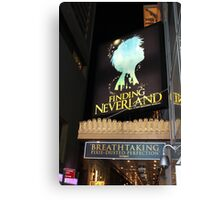 NYC Finding Neverland Broadway Canvas Print