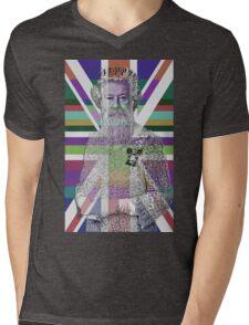 God Shave the Queen! Mens V-Neck T-Shirt