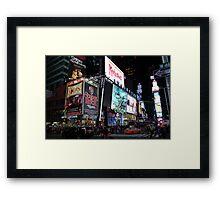 NYC Times Square Artwork Framed Print