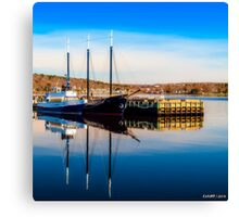 Boats at Bedford Waterfront Canvas Print