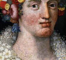 "Giuseppe Arcimboldo's ""Flora"" - Portrait in Flowers Sticker"
