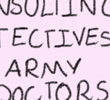 Johnlock (Consulting detectives + Army doctors) Sticker