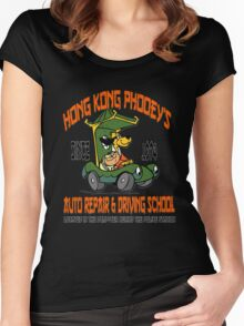 Hong Kong Phooey's Auto Repair & Driving School Women's Fitted Scoop T-Shirt