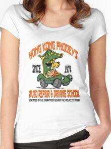 Hong Kong Phooey's Auto Repair & Driving School Women's Fitted Scoop T-Shirt