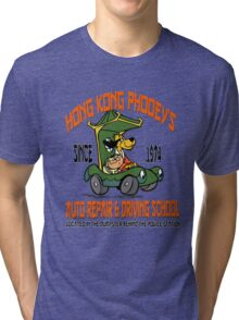 Hong Kong Phooey's Auto Repair & Driving School Tri-blend T-Shirt