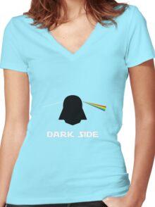 Dark Side Women's Fitted V-Neck T-Shirt