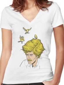 Safe Haven  Women's Fitted V-Neck T-Shirt