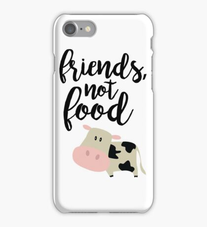 Friends Not Food - Vegan  iPhone Case/Skin