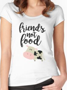 Friends Not Food - Vegan  Women's Fitted Scoop T-Shirt