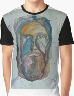 Face with Beard Graphic T-Shirt