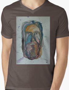 Face with Beard Mens V-Neck T-Shirt