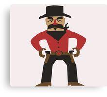 Western Cowboy Gunslinger Canvas Print