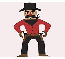 Western Cowboy Gunslinger Photographic Print