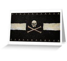 Pirate Skulls - Black Greeting Card