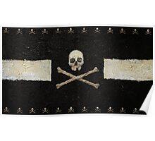 Pirate Skulls - Black Poster