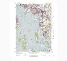 USGS TOPO Map Rhode Island RI Bristol 353379 1955 25000 Kids Tee